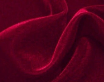 Velvet Burgundy 45 Inch Fabric by the Yard
