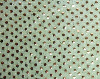 Sequin Small Dots Avocado Fabric 42 Inch Fabric by the Yard 1 yard