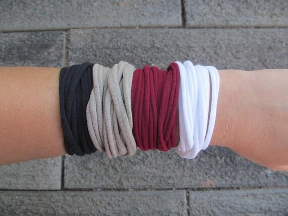 Continuous Loop T-Shirt Bracelet or Necklace