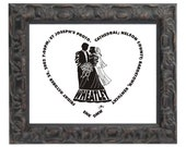 Formal Bride and Groom - Custom Personalized Wedding Print UNFRAMED