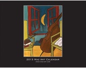 2013 Music Themed Maz Art Wall Calendar
