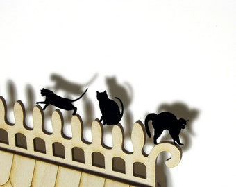 Black Acrylic Halloween cats, cat charms for Crafts Scrapbooking Charms Decorating