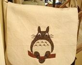 Totoro Canvas Messenger Bag or Pillow