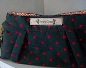 Polka Dot  Cosmetic Wristlet Bag