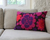 Mod Pillows Stylized Flower Print - Pink, Purple, Red, Black