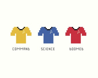 Cross Stitch Patterns -- Doomed Redshirt
