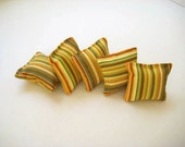 Lavendar Sachets - Yellow and Green Stripe Print Fabric - Gift for Her, for Mom