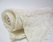 Romantic nuno lace and tulle with superfine merino wool felted /// Ready to ship ///