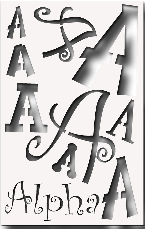 alpha phi omega letters letter alpha stencil for all your sorority crafting 1307