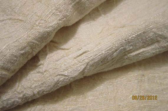 """Fat Quarter, Pure Raw Silk - Natural, Unbleached, 18"""" x 23"""" (see below to purchase larger pieces)"""