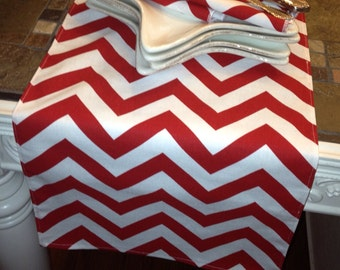 """Chevron Table Runner - 12"""" wide by 68"""" Chevron - Holiday - Wedding or Party runners"""