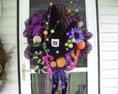 SALE Spooky Witch Deco Mesh Wreath