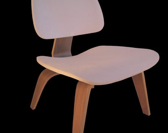 White Seat Cover for Eames Plywood Lounge Chair - Like a Second Skin