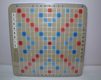 Vintage 1977 Deluxe Edition Scrabble Game Burgandy Tiles Complete Set