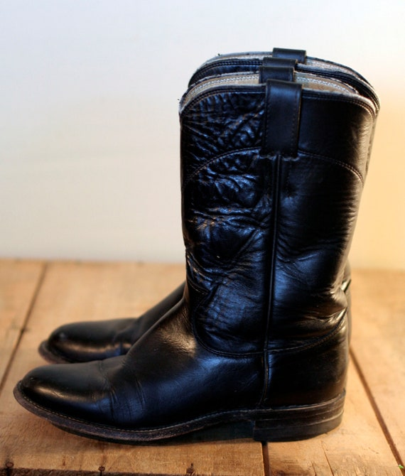vintage justin roper boots size 5 5b by tomtomvintage