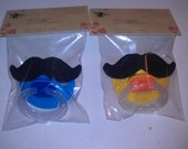 NUK BPA-Free 6 plus months Mustache Pacifier CHOICE of 1, Blue, Yellow or Pink