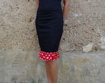 Rockabilly dress red polka dot cherry pin up rétro psychobilly tattoo kustom aloha glam punk diy