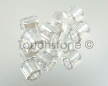 8/0 Delica Round Seed Beads Transparent Luster Crystal 6.8 Gram Tube DBL50 #-