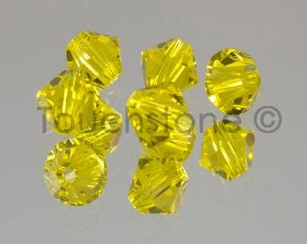 4mm Citrine Swarovski Crystal Bicone Beads 72 Beads #45-1113