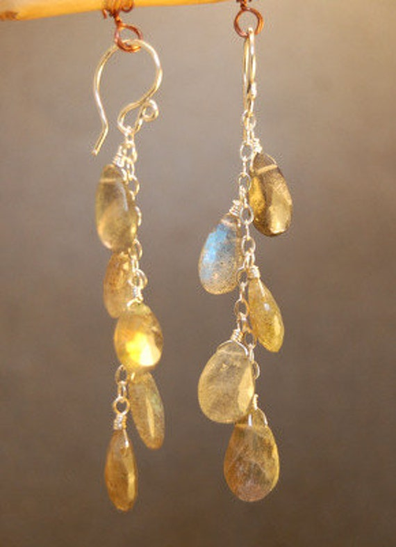 Labradorite drops on chain Princess 181