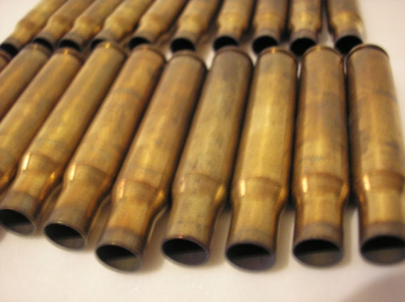Alternate / Steampunk Art Supply / Springfield 30-06 Un-Polished Brass Empty Spent Bullet Casings - Lot of 20 pcs.