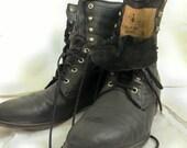 Men's black vintage Diamond J boot - size 9.5