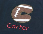 Infant, Toddler and Boys Football initial T-Shirt