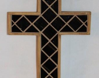 Brown Glass Mosaic Cross