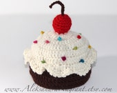 DELICIOUS CUPCAKE HAT - Baby - Newborn - Hat - wool/ acrylic - photo prop - Made To Order