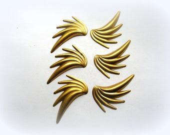 Stamped Brass Sprays - Brass Findings Lot - Jewelry Supplies - Brass Stampings - Art Deco Brass