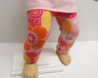 Cotton Stretch Leggings with Baby Lulu Fabric for Bitty Baby or 15 inch dolls