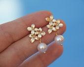 pearl earring, pearl earrings, bridesmaid gift, bridal jewelry, bridal earrings