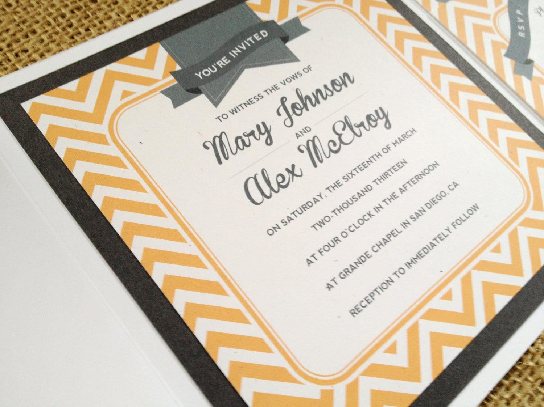 etsy modern vintage wedding invitations - 28 images - read more ...