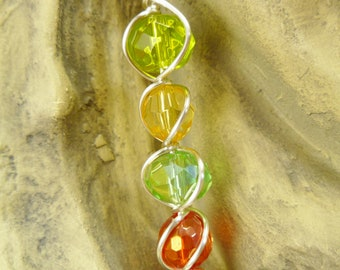 Stepping Lightly Wire-Wrapped Bead Pendant
