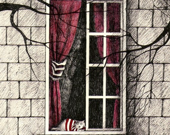 The mysterious house of Mr. Gorey - open edition art print
