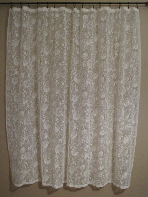 victorian lace shower curtain panel window treatment