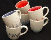 Customised Hand Painted Large Ceramic Coffee Mugs