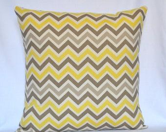 Decorative pillow Chevron pillow designer pillow accent pillow 18x18 inches zigzag cushion cover