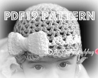 Just the Bows crochet pattern - 4 sizes included - PDF19 instant download