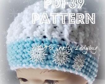 Textured snowball hat pattern - unisex hat pattern - PDF39 instant download