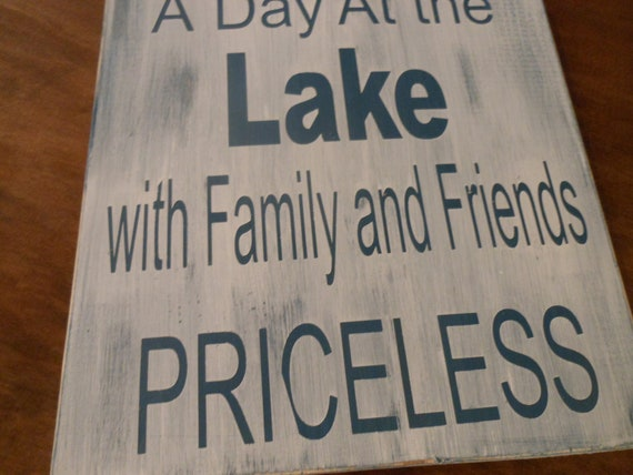 """A Day at the Lake......12"""" x 12"""" Vintage/Rustic wood wall art"""