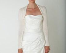 Wedding Shrug Cashmere Merino soft wedding jacket, bridal cover up, handmade cardigan for your wedding or evening dress