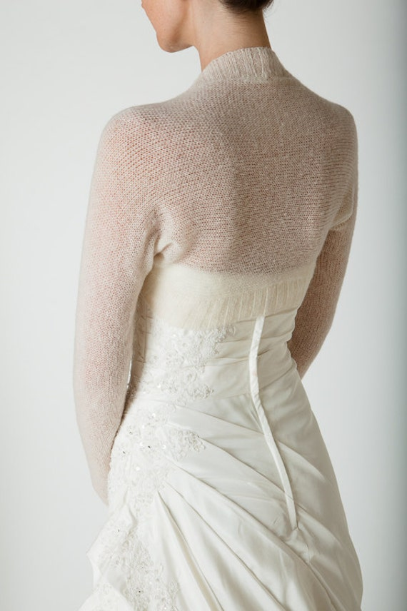 Wedding Bolero knitted with only two seams the perfect match