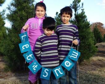 Christmas Burlap Banner Photo Prop