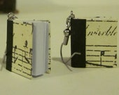 Repurposed / Upcycled Miniature Dollhouse Book Earrings - Musical Score