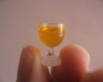 Dollhouse Miniature orange juice