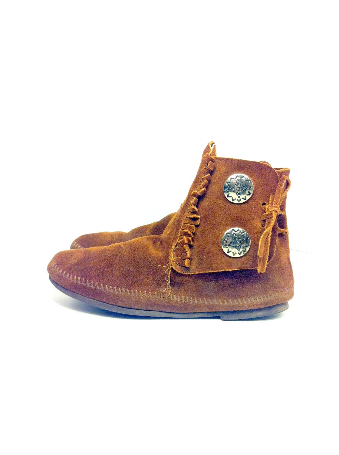 vintage mens leather moccasin boots 10 american