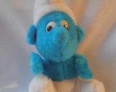 Vintage Smurf Small Plush Toy 1980