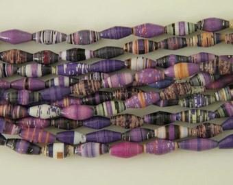 Purple paper beads - Regular