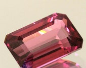 100% Natural 2.75 Ct. Natural Gemstone Rubellite Tourmaline Octagon Red Pink  Faceted